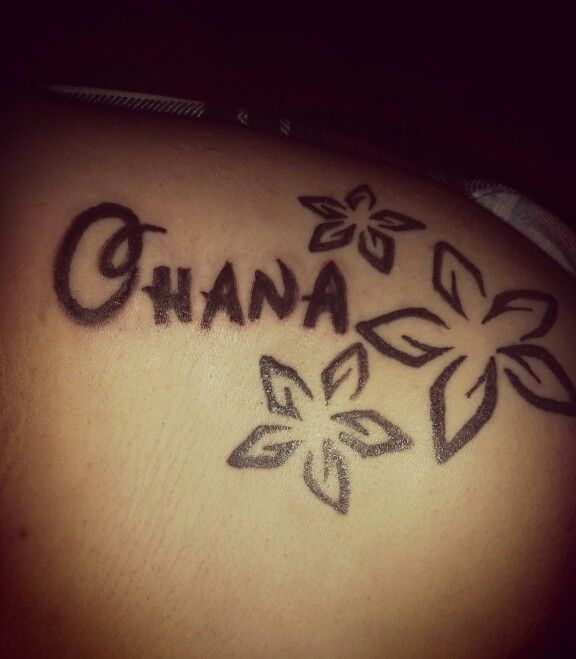 Ohana means family, family means nobody gets left behind or forgotten! This was my first tattoo, I got it after some a very stressful time for my family and I. It's a reminder of no matter what happens family is everything.