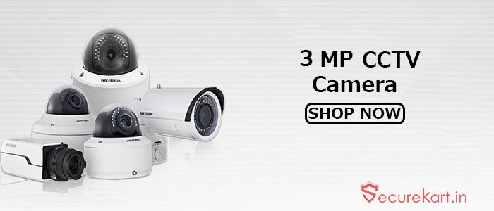 Cctv stands for close circuit television camera is a system where the circuit in which the video is transmitted is close and all the element are directed connected.Securekart online store for  electronics goods. We are provides latest range of 3 mega pixel cctv camera in various brands hikvision,Cp plus, Panasonic, Dahua, Sparsh or many more. If you want buy 3 MP cctv camera please visit website or contact us.