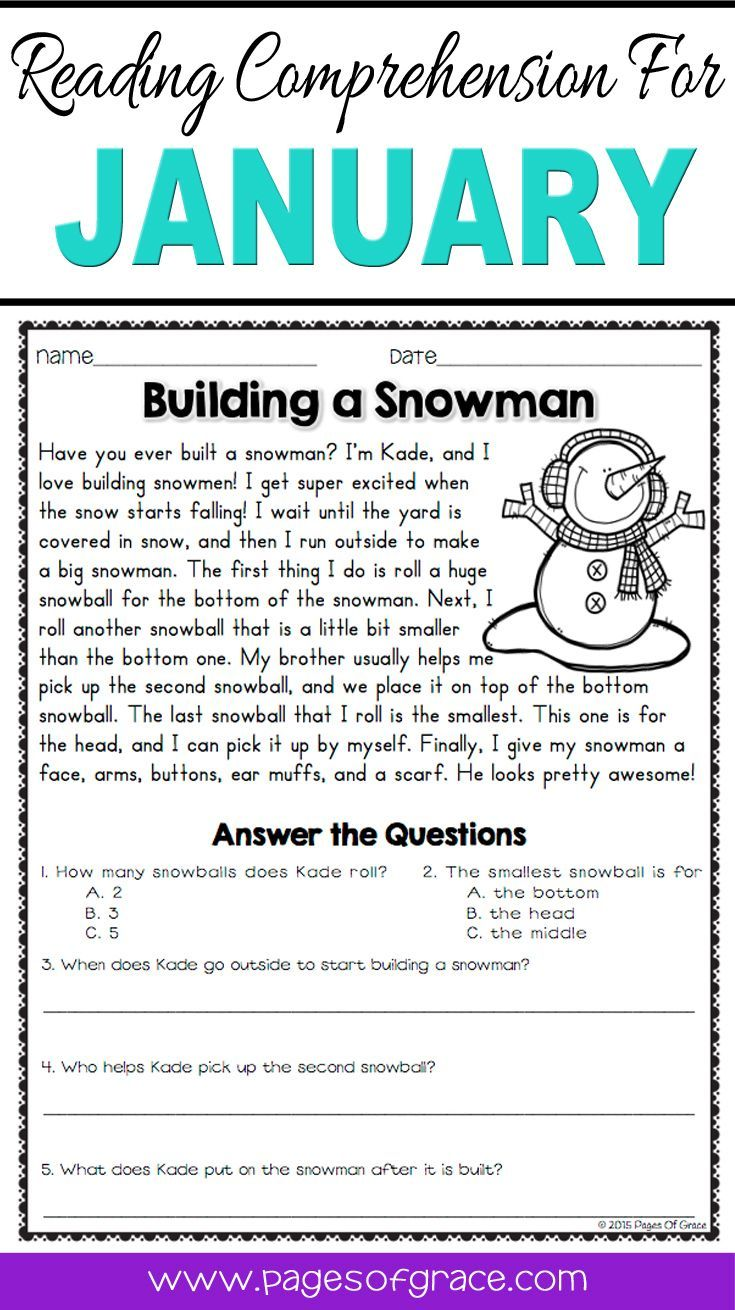 Help your students enjoy reading comprehension practice with this set of daily passages for January. If you are looking for fun activities to help your students with reading comprehension strategies, check out this packet for the month of January & winter! Each worksheet has a short story with an illustration and 5 questions. Great for advanced 1st grade, 2nd grade, and 3rd grade extra practice. Kids enjoy reading these fun stories while improving their skills.
