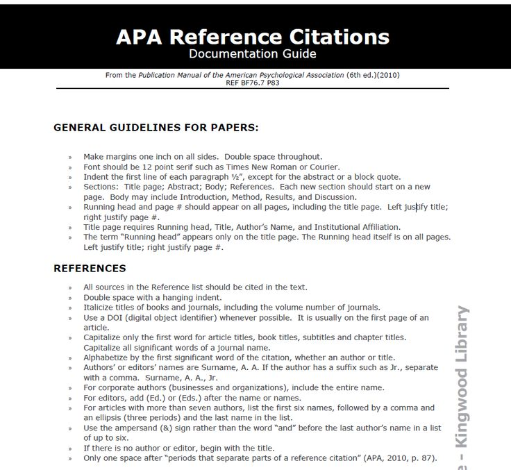 APA Reference Citations Citation Skills Pinterest Study - paper formatting guidelines