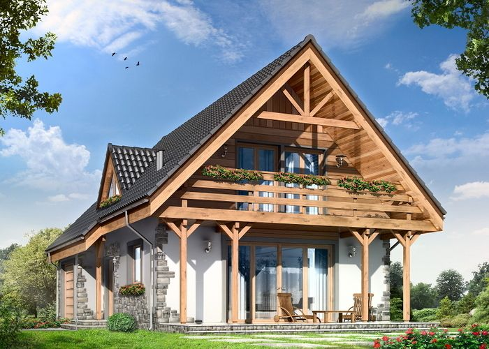 Fot. MG Projekt Wilełka #dom #projekt #przytulny