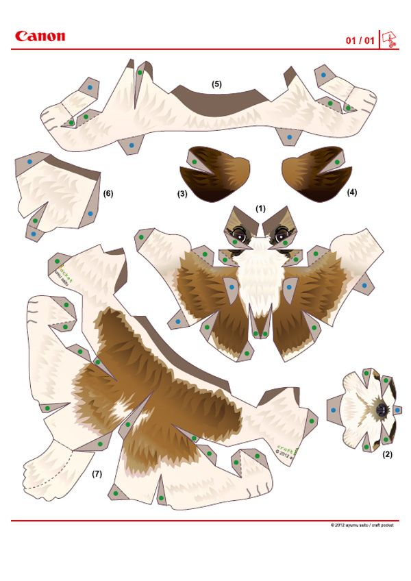 Image detail for 672 chien paper toy template chien shih for Papercraft bird template