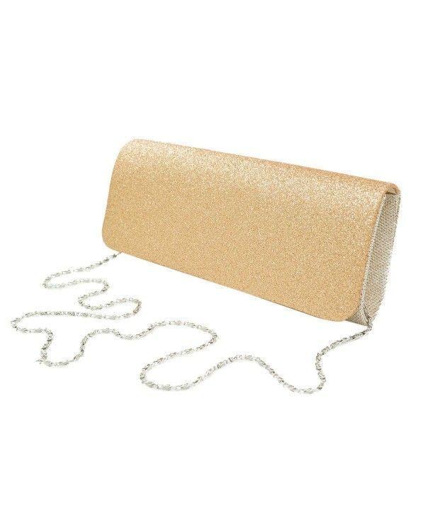 07173fe4ea9 Women's Bags, Clutches & Evening Bags, Premium Large Metallic Glitter Flap Clutch  Evening Bag