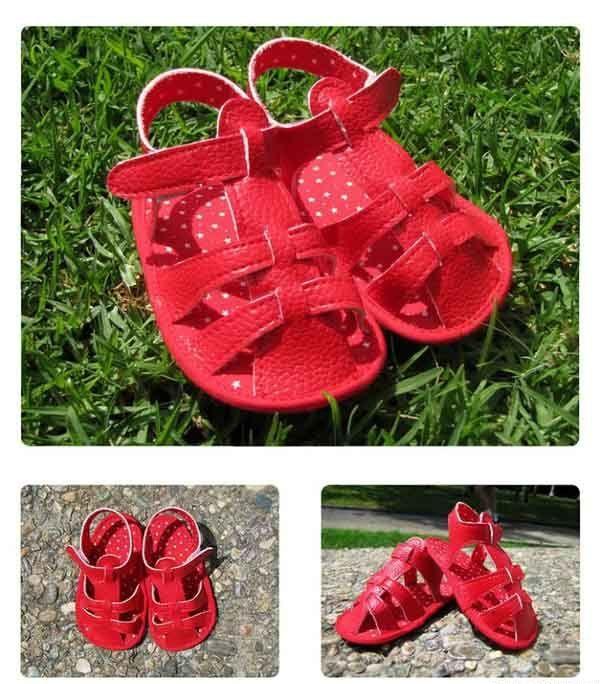 Детские сандалии от 6 до 12 месяцев. Выкройка