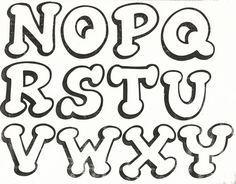 Moldes Letras Para Carteles Feliz Cumpleanos Graffiti