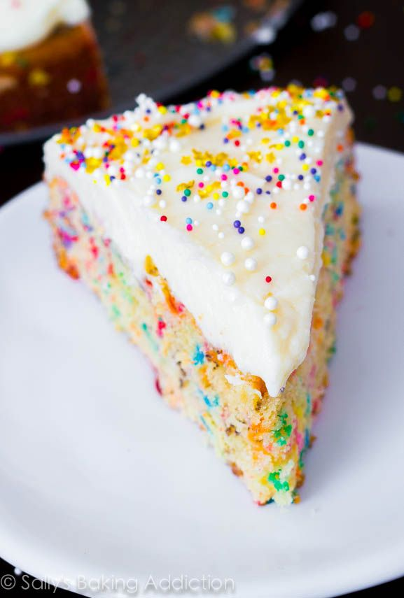 Ditch that boxed mix! Making super-moist funfetti cake from scratch is (literally) a piece of cake.