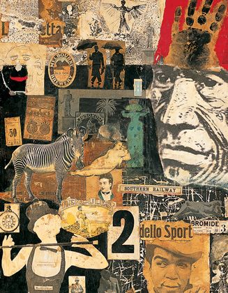 Nigel Henderson, 4 Mural Panels (Screen) (detail), 1949-52 and 1960, Collage, oil paint and photographic processes on wood panel|Pallant House Gallery (Wilson Gift through The Art Fund, 2004), © The Estate of Nigel Henderson