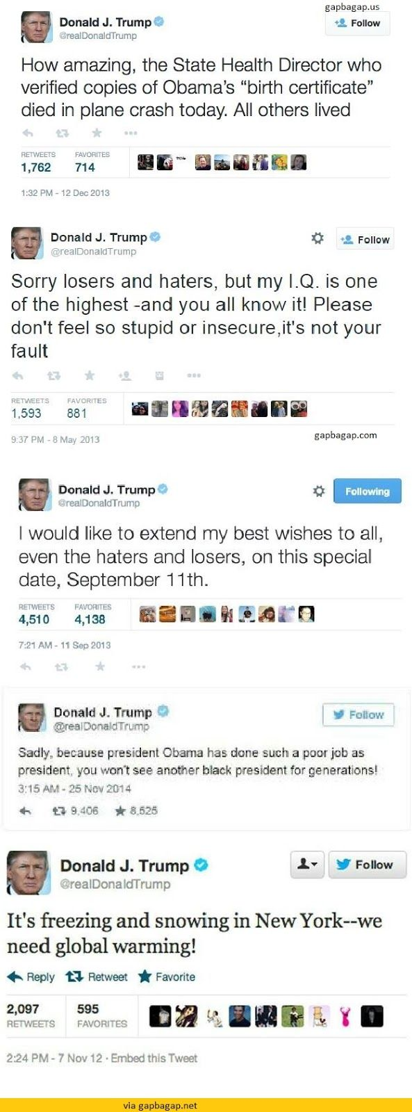 Top 5 #Hilarious Tweets By Donald Trump