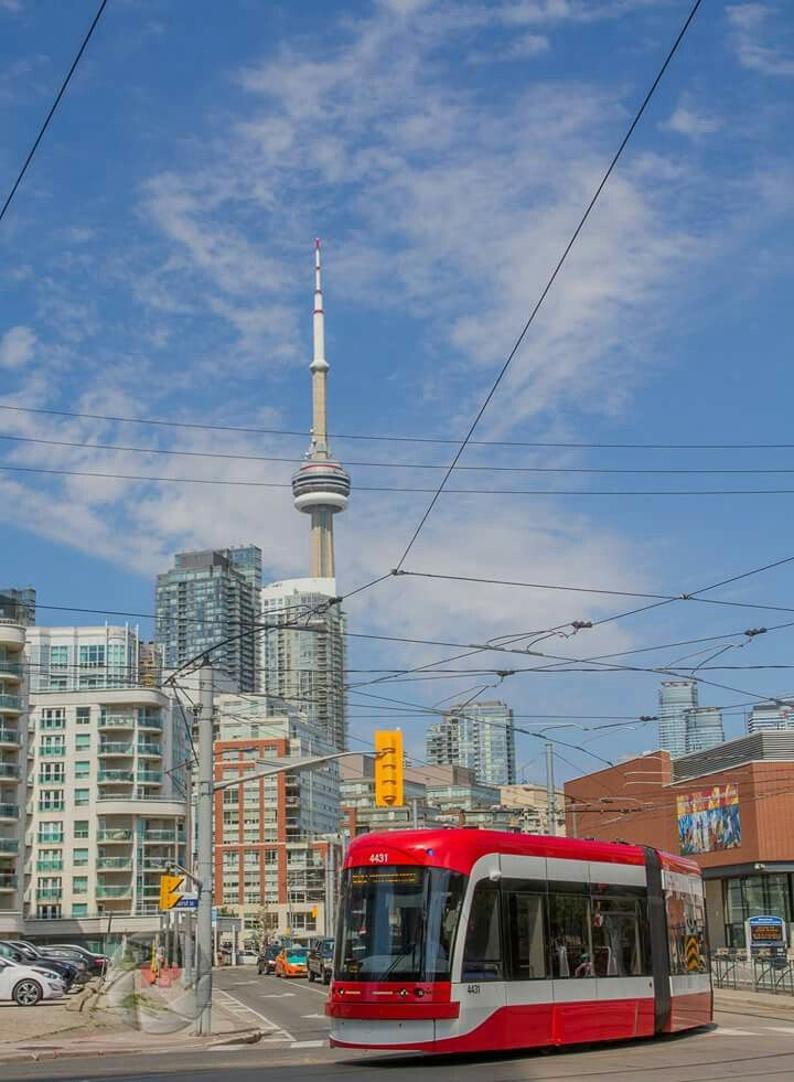 One of the latest streetcars, Toronto