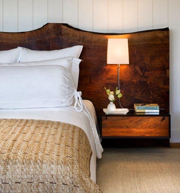 Дизайн изголовья кровати из древесины