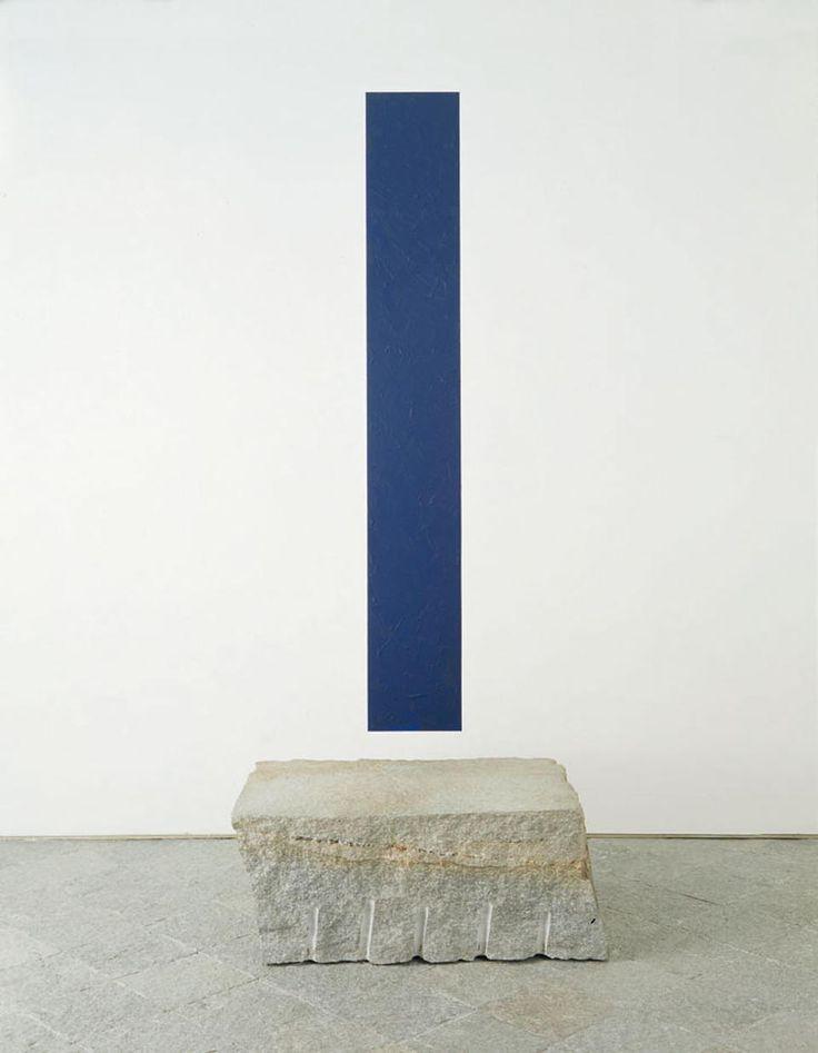 Giovanni Anselmo, Il panorama fin verso oltremare, 1996.