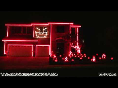 "Very Original and Creative ::: Halloween ""No"" Light Show 2012 - Gangnam Style ::: http://www.creativelightingdisplays.com/"
