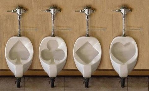 Card toilets: Las Vegas, Royals Flush, Toilets, Funny, Suits, Humor, Design, Man Caves, Plays Cards
