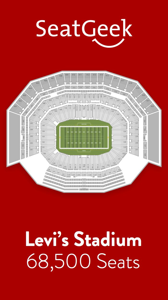 Find the best deals on San Francisco 49ers tickets and know exactly where you'll sit with SeatGeek.