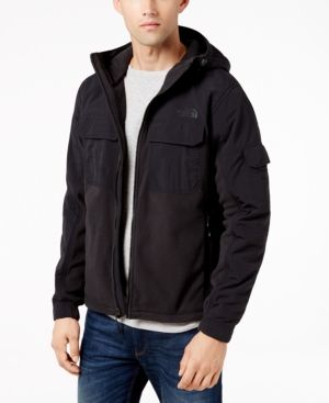 The North Face Men's Salinas Hooded Colorblocked Full-Zip Jacket - Black XXL