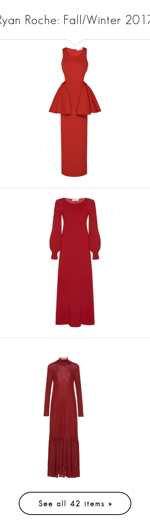 """""""Ryan Roche: Fall/Winter 2017"""" by livnd ❤ liked on Polyvore featuring ryanroche, fallwinter2017, livndfashion, livndryanroche, dresses, red peplum dress, cut out dresses, peplum dress, red cut out dress and red cut-out dresses"""