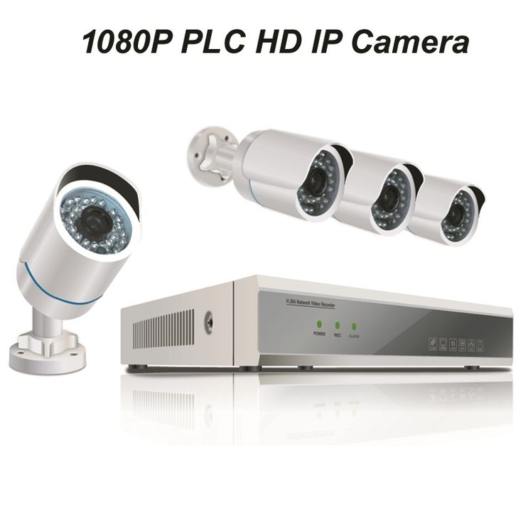 297.50$  Buy now - http://ali82q.worldwells.pw/go.php?t=32595305414 - 4pcs of 1080P PLC HD IP Bullet Camera with 1080P NVR Kit with Power Line Communication Module Built-in Reach 300m Power Supply 297.50$