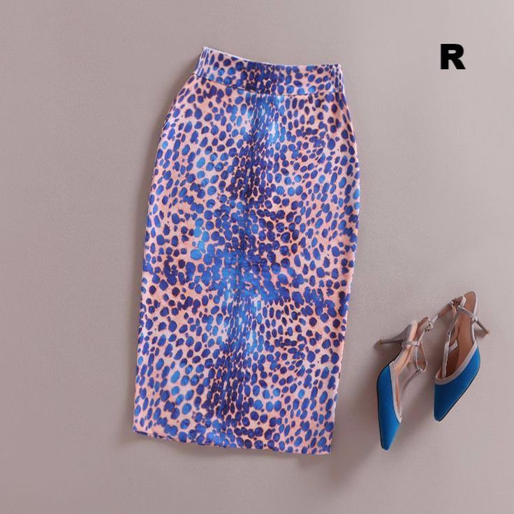 Fashion Women 2017 New Print Office Skirt Spring Summer Knee-Length Pencil Back Split Skirts High Quality Faldas Saia Midi Femme