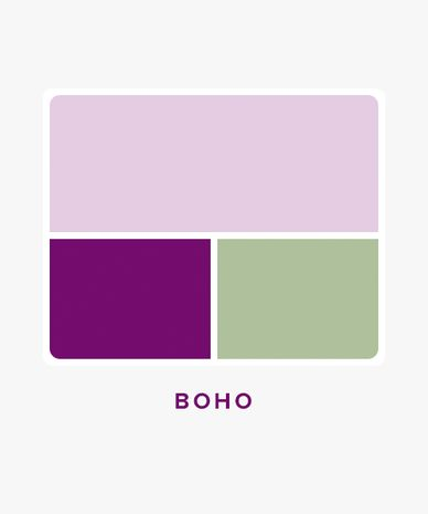 Boho Wedding Color Palette Idea Lavender Plum And Sage