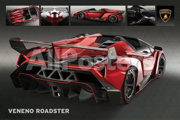 "Italian Supercars Lamborghini Aventador Mini Poster 24/"" x 36/"""