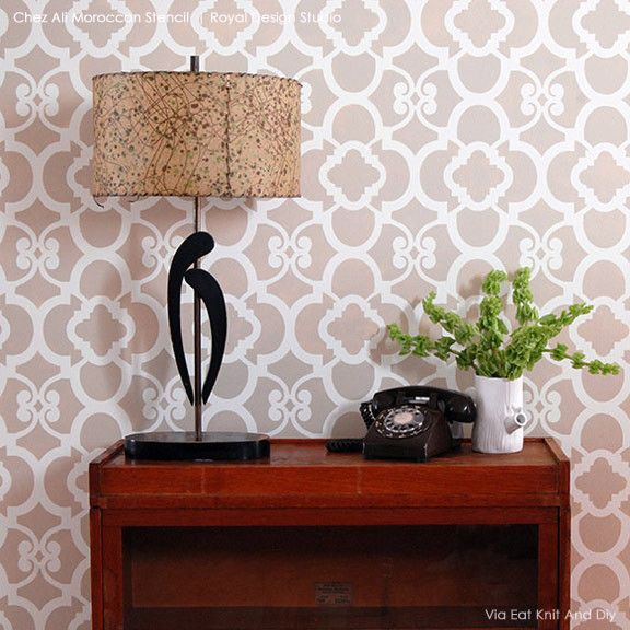 Wall Stencils Royal Design : Best ideas about moroccan wall stencils on
