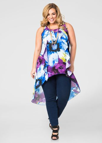 Floral Hi-Lo Ruffle Blouse 9