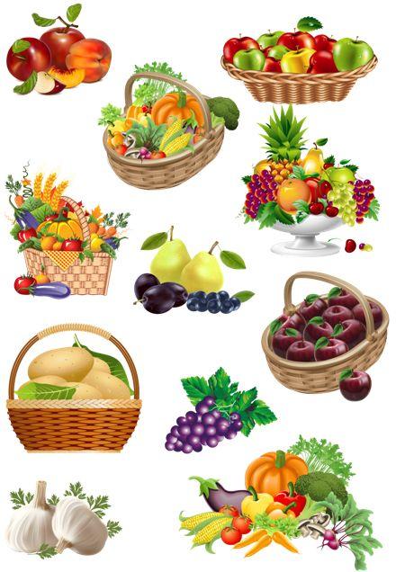 Клипарт Овощи Фрукты