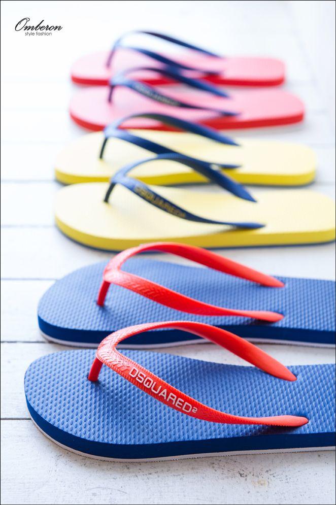 Essential Summer Footwear, #DSQUARED2 Flip Flops. Omberon Style Fashion. © Vicky Lafazani