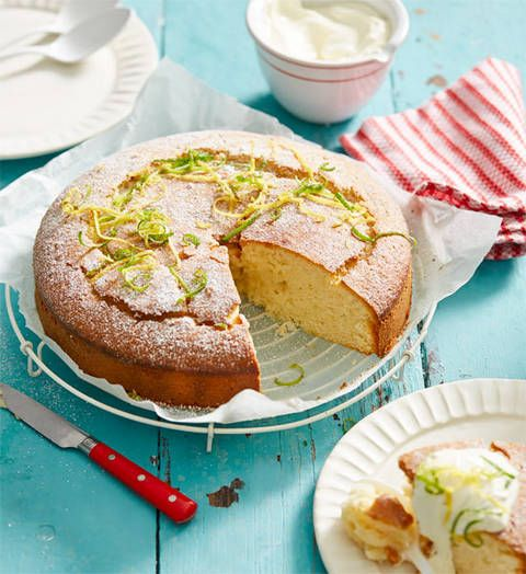 Lemon, lime and yoghurt cake: This delight is so easy you could make it with one hand tied behind your back! But you might want both to tuck in to a big slice – enjoy!