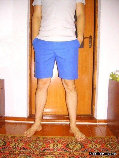 Яркие мужские шорты своими руками / мужские шорты выкройка