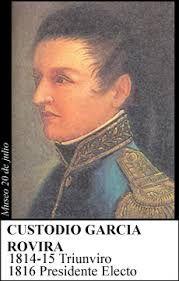 """1814-1815 / 1816 - Custodio García Rovira °Bucaramanga, marzo 2 de 1780 - Bogotá, agosto 8 de 1816 °Llamado  """"El Estudiante"""" °Uno de los últimos presidentes de la Primera República granadina. °En 1814 fue elegido miembro del primer triunvirato de la Nueva Granada. °Presidencia de la Unión el 28 de noviembre de 1814 °Fue designado comandante en jefe del Ejército del Norte para enfrentar al ejército español de la Pacificación."""