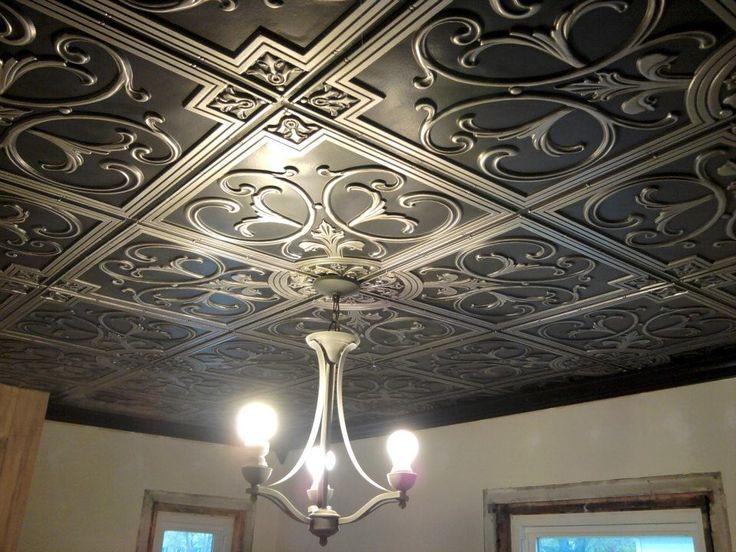I love the idea of ceiling tiles