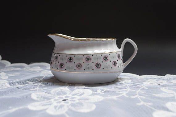 Vintage gravy boat sauce dish porcelain serving dish pitcher