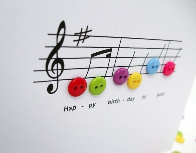 Birthday Music Birthday Card (We all know I could make this!)