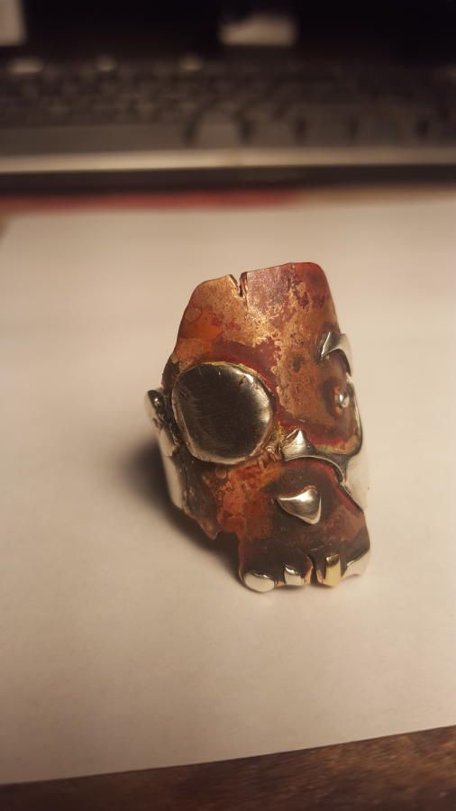 Primative Skull Ring - Jewelry creation by Mike VanDuzer