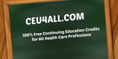 Welcome to CEU4ALL, your #1 source for 100% Free Respiratory CEUs courses gathered all of the internet by a fellow RCP for your license renewal needs.
