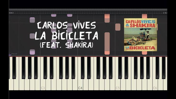 Carlos Vives - La Bicicleta (feat. Shakira) - Piano Tutorial by Amadeus ...