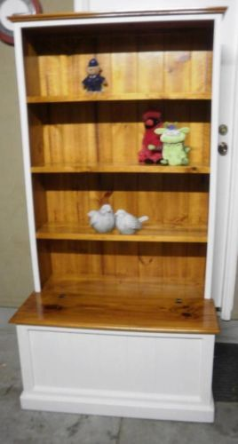 French Country Beach House Hamptons Style Bookcase Trunk Toy Box Storage