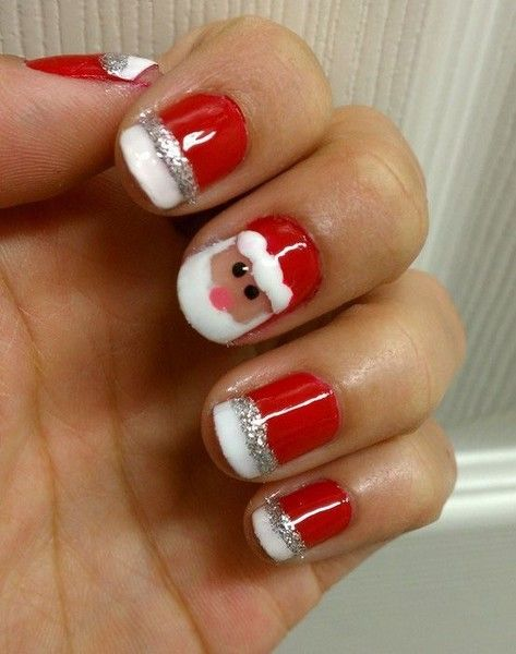 Santa Nails - Best 25+ Santa Nails Ideas On Pinterest Xmas Nail Art, Nail Art