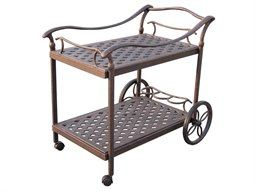 Darlee Outdoor Living Accessories Cast Aluminum Antique Bronze Tea Cart
