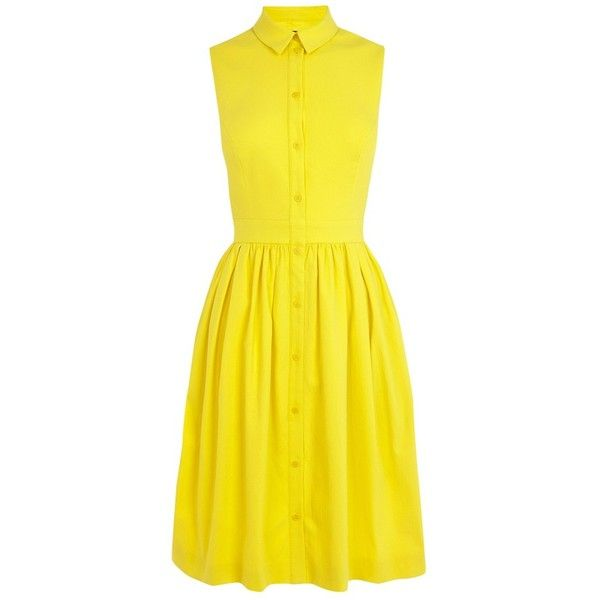 Yellow dress shirt 20 neck