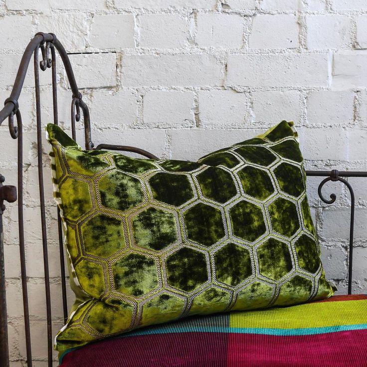 Designers Guild Manipur Moss Cushion Small Acorns Buy