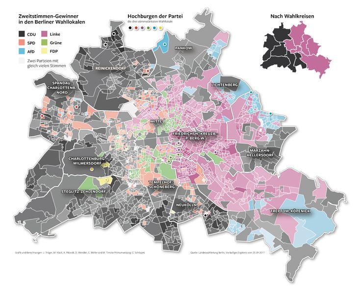 Bundestagswahl 2017 in Berlin. So hat dein Kiez gewählt. Mit Ergebnissen aus allen einzelnen Wahllokalen.  Erschienen in der Berliner Morgenpost und Intaktiv zu sehen bei Klick