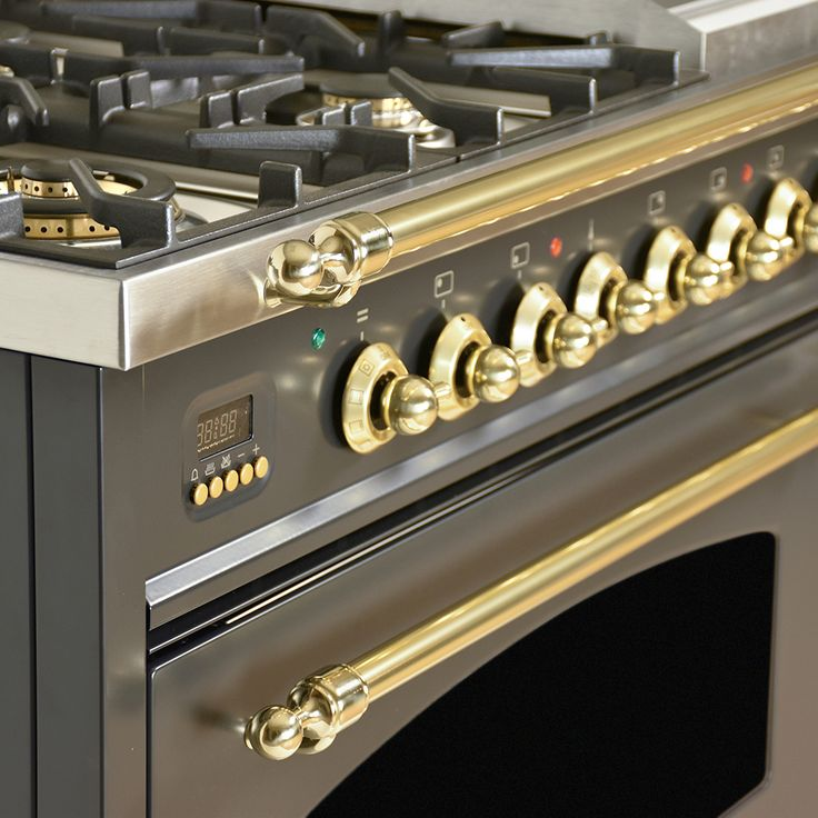 48 in. 5.0 cu. ft. Double Oven Dual Fuel Italian Range with True Convection 7-Burners and Griddle in Matte Graphite   HDFR48MG