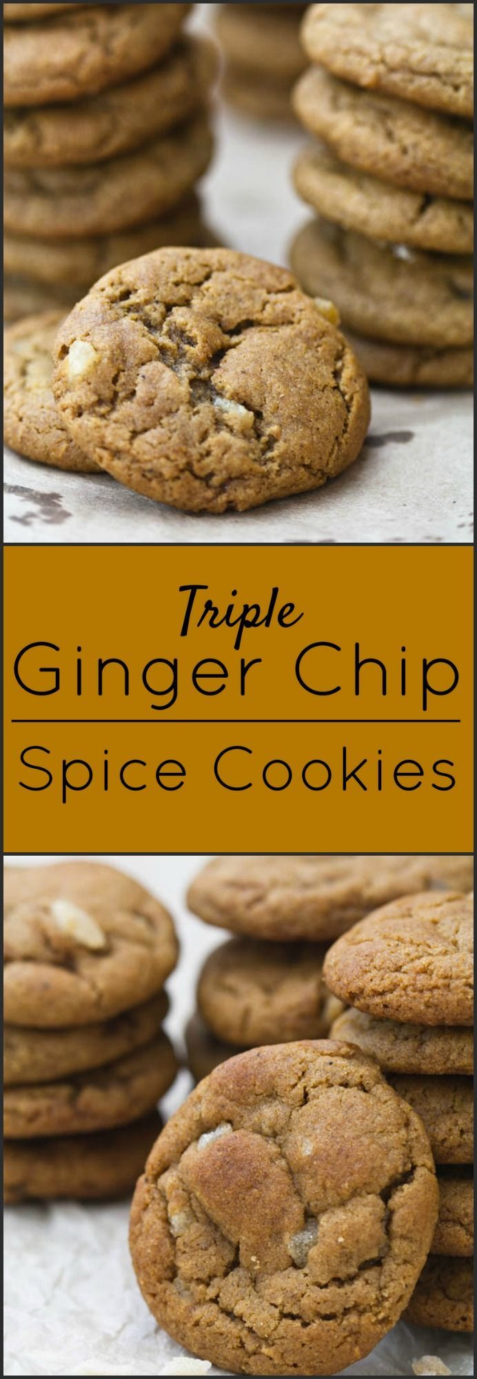 Triple Ginger Chip Spice Cookies.