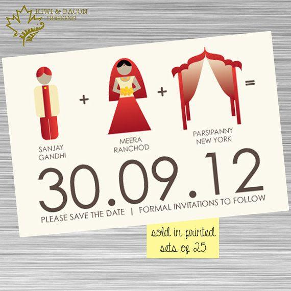 INDIAN SAVE THE DATE Indian Save the Date - Bride Groom Mandap  (available in printed sets or digital file)