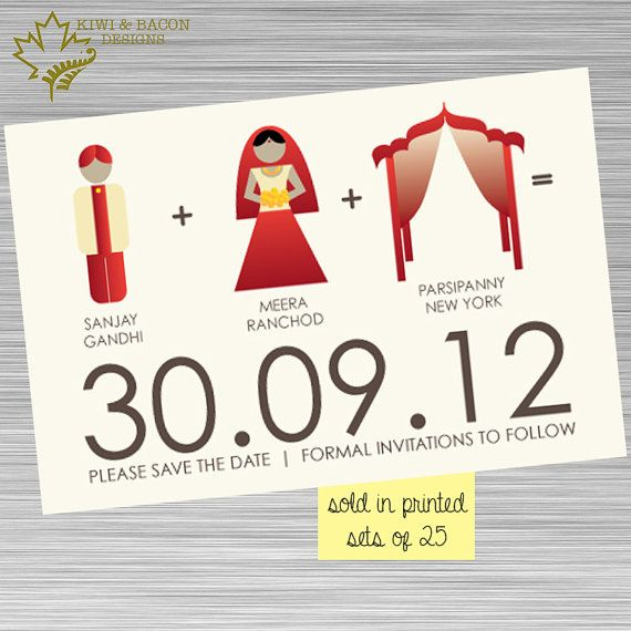 INDIAN SAVE THE DATE Indian Save the Date - Bride Groom Mandap  (available in printed sets or digital file)