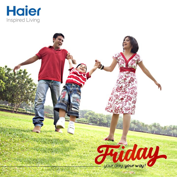 Oh yeah!!! Friday's here, what's planned for the weekend? Fairs, family, fun, food? Make your day, go your way! #HappyWeekend #HaierLife