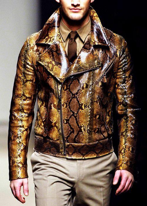 b833637120 Python Jacket - Bottega Veneta - Only if it were fake snakeskin ...
