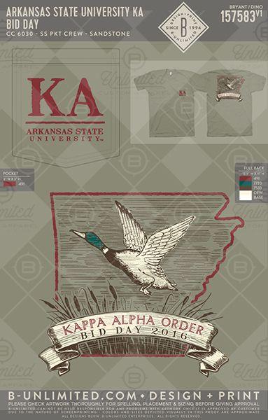 University of Arkansas- Kappa Alpha Order #BUonYOU #greek #greektshirts #greekshirts #fraternity #KappaAlphaOrder #KA #bidday #functions #mixers #PRshirts